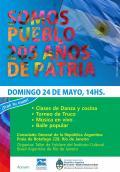 Domingo 24/05 a las 14 hs. festejamos el Día de la Patria. Venite!